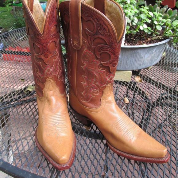 e72db6a4a Tony Lama Women's Leather Snip Toe Western Boots. M_5b2e3ca40cb5aa71b6d9916f